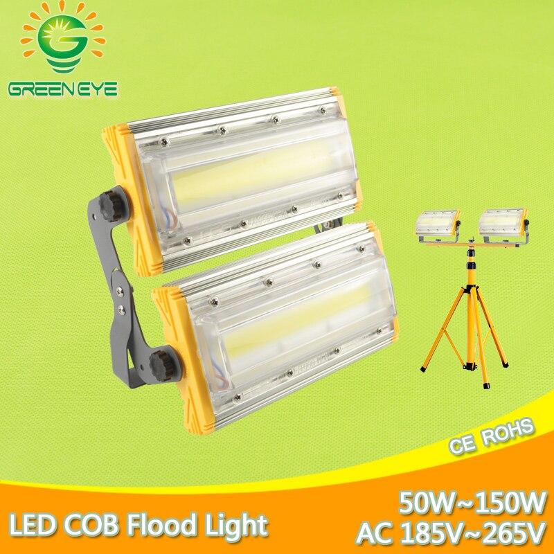 LED Flood Light 50W 100W 150W AC 185 265V Waterproof IP65 Spotlight Outdoor Wall Lamp garden