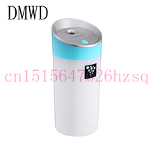 DMWD New Silent Mini USB Ultrasonic Humidifier For Car Home Office LED Light Electric Aroma Diffuser Moisturizing Mist Maker