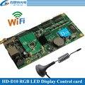 HD-D10 asíncrono 384 W * 64 H píxeles 4 * HUB75 interfaz de datos a todo color RGB led WIFI pantalla de control soporte de tarjeta de 1/32 escanear
