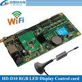 HD-D10 asincrono 384 w * 64 H pixel 4 * HUB75 interfaccia dati di RGB di colore completo WIFI display a led di controllo supporto della carta di 1/32 di Scansione