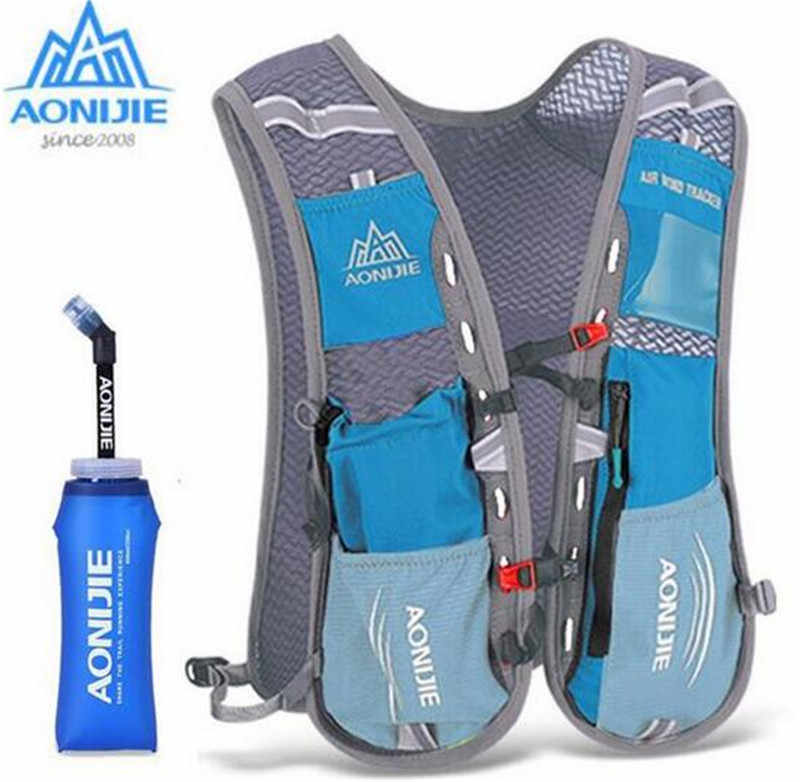 12588d3f2260 AONIJIE 5L Men Women Outdoor Sports Running Backpack Trail Racing Marathon  Hiking Bag Hydration Vest Pack 600ML Kettle