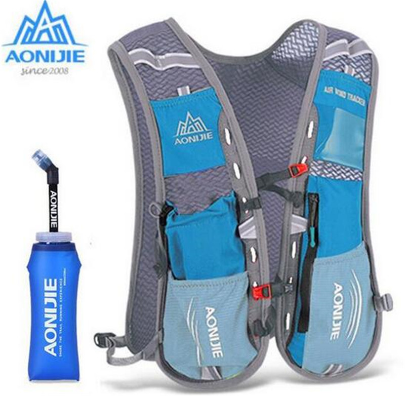 AONIJIE 5L Men Women Outdoor Sports Running Backpack Trail Racing Marathon Hiking Bag Hydration Vest Pack 600ML Kettle стоимость