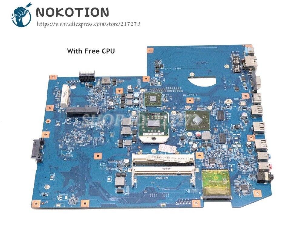 NOKOTION For Acer Aspire 7540 7540g Laptop Motherboard JV71-TR 48.4FP02.011 MBPJC01001 DDR2 HD4500 Free CPU