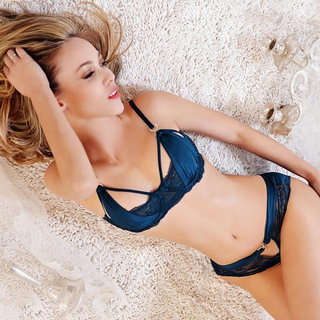 10413-5 New 2017 sexy woman underwear set women's bra set European bra & brief sets famous full lace bra intimate sexy lingerie