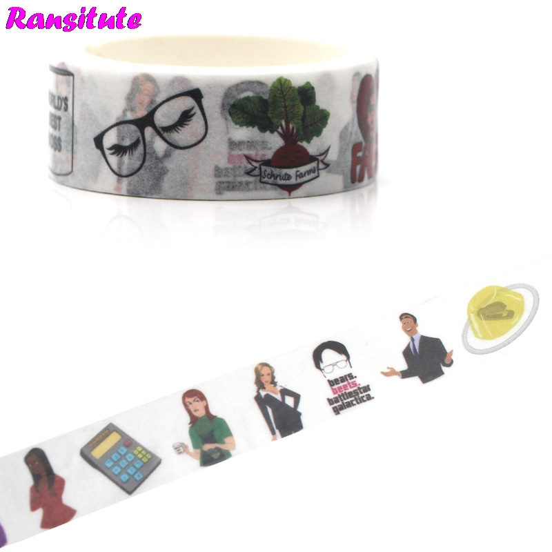 Ransitute R460 The Office Washi Tape Gift Box Japanese Pocket Book Color Book Decoration Detachable Sticker