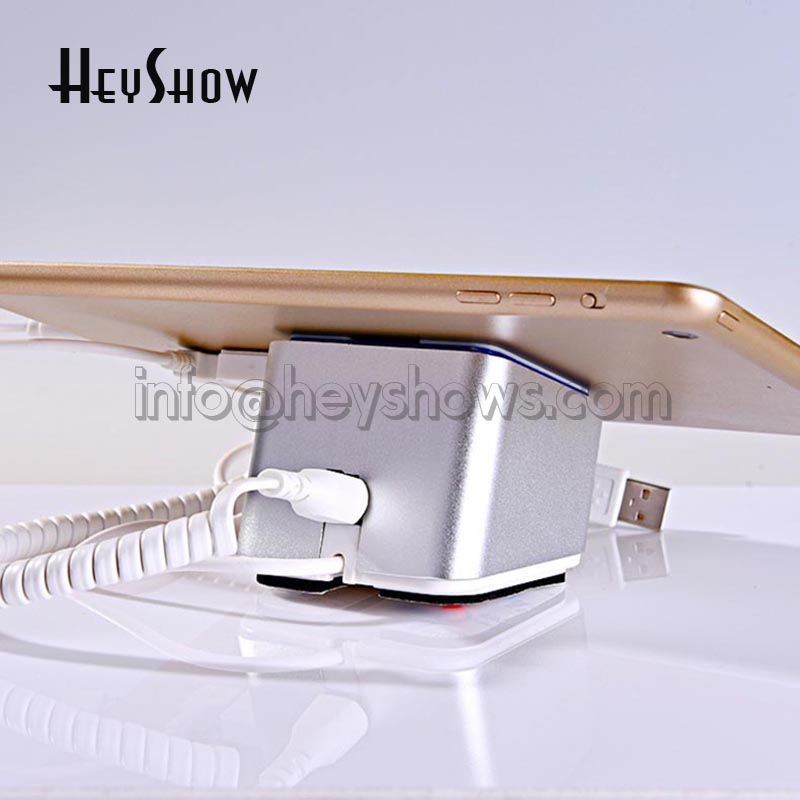 Wireless tablet security display stand Ipad alarm charging holder andriod apple samsung devices anti theft  for retail shopWireless tablet security display stand Ipad alarm charging holder andriod apple samsung devices anti theft  for retail shop
