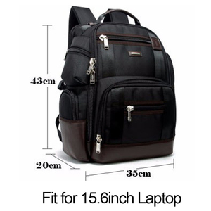 Image 4 - BOPAI marka duża pojemność wiele kieszeni plecak podróżny torba na ramię plecak na laptopa moda męska plecak rozmiar 43*35*20cm