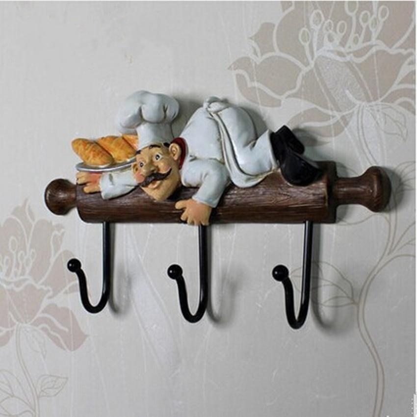 original antique distress wall decoration long hooks resin clothes bag cap three hooks antique iron craft