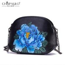 Коровья кожа Чехол женский сумка винтажные сумки тисненые цветы Пион на молнии цепь женская сумка через плечо китайский стиль женская сумка мессенг