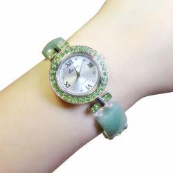 2019 Новый нефритовый браслет ручной Дамская мода водостойкая нержавеющая сталь женские кварцевые часы женские наручные часы браслет для