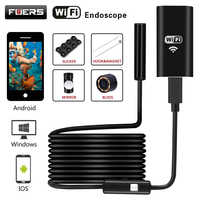 8mm Lens 720P WiFi Endoscope Camera with 2m 3.5m 5m Soft Wire Wireless Waterproof Inspection Borescope for Android IOS Windows
