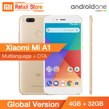 Global Version Xiaomi Mi A1 4GB 32GB Snapdragon 625 Octa Core Dual 12.0 MP 5.5″ Smartphone Full Metal Body Android One CE FCC