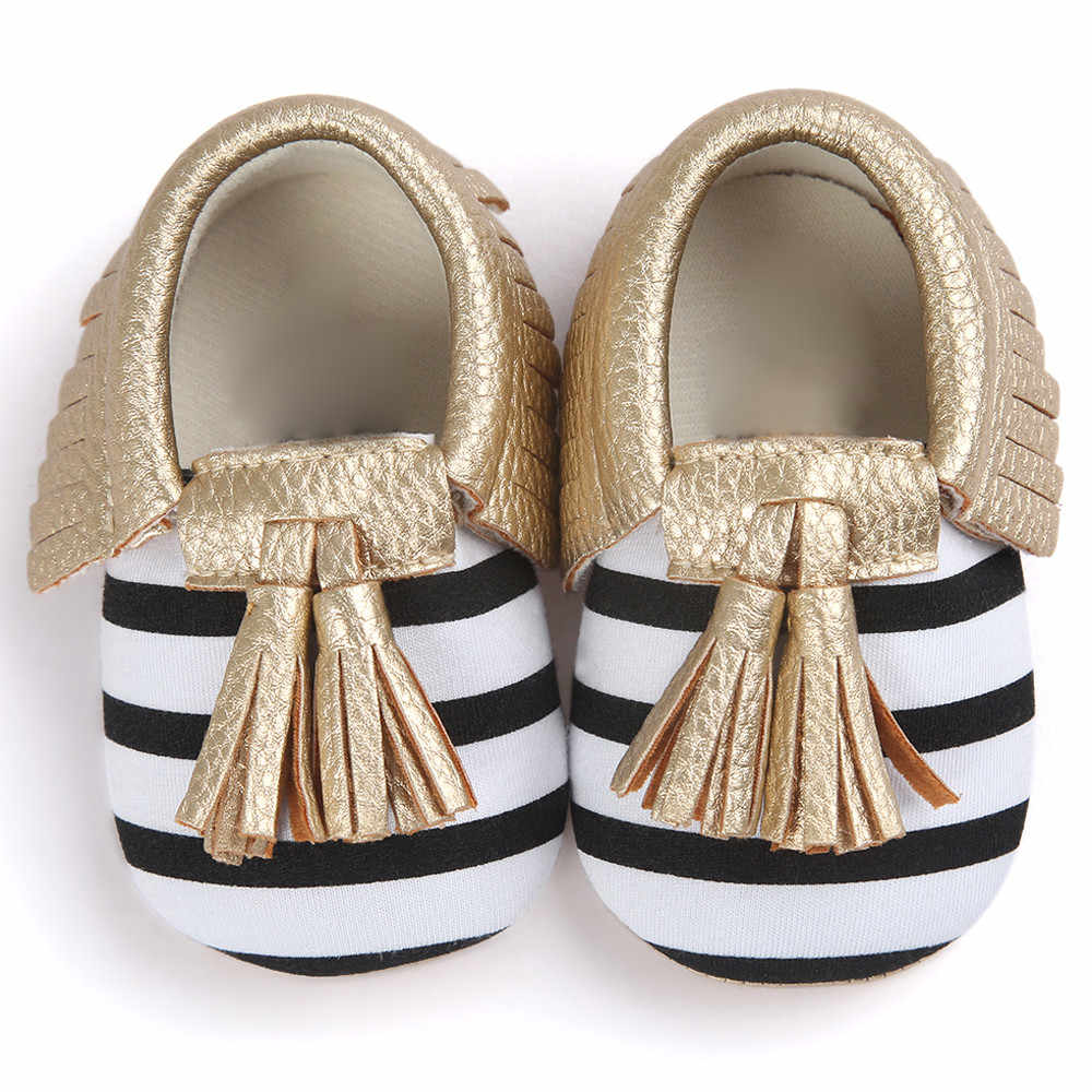 Baby Girl Shoes Crib Tassels Bowknot Shoes Toddler Sneakers Casual Soft Sole Shoes Prewalker Walking Toddler Kids Shoes