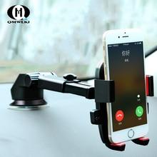 цена на Luxury Car Phone Holder GPS Universal Suction Cup Bracket For iPhone XS MAX XR X Xiaomi 360 Dashboard car Windshield rotation