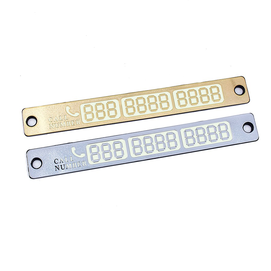 B35 Universal Silver/Gold 15*2cm Temporary Car Parking Card Magnetic <font><b>Phone</b></font> Number Card Plate Sucker Car Sticker 2016