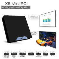 X5 Мини ПК Intel HD Graphic Atom X5 Z8350 4 ядра 2,4 ГГц Wi Fi Поддержка bluetooth Windows 10 Android 4 К ТВ Box Minipc
