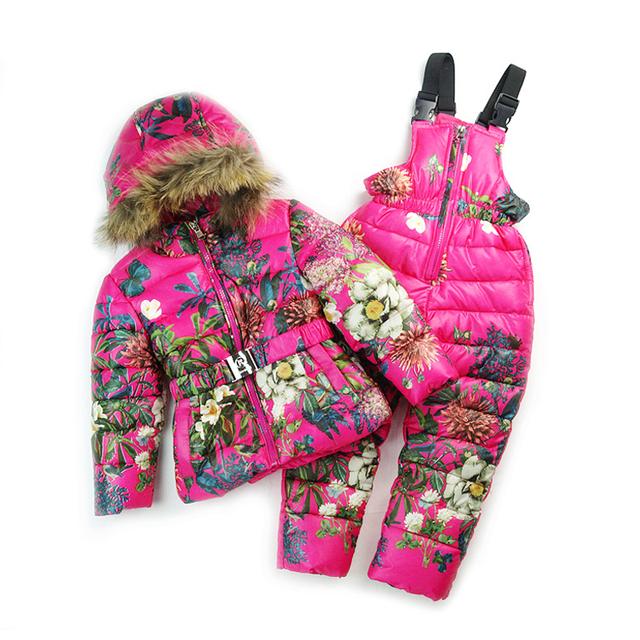 Marca Russa casaco de Bebê Do Inverno crianças crianças casacos de Inverno casaco parka casacos infantil meninas snowsuit casacos conjunto de roupas menino