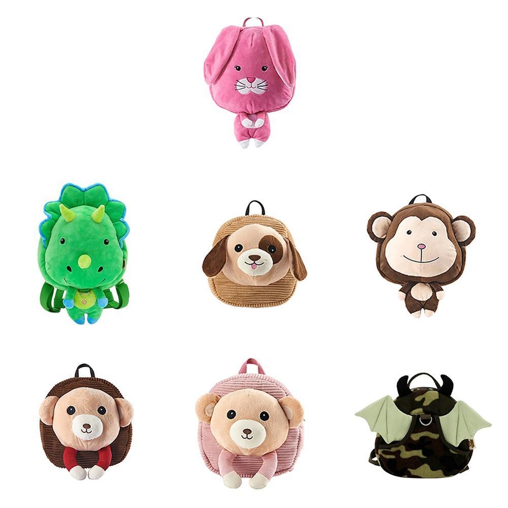 Hot 1Pc Kids Bags Children Toddler Preschool Backpack Animal Cartoon Kids School Satchel Travel Lunch Anti-lost Bags
