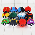 12 Unids/lote Nueva Pokeball Poke Bola Muñeca de la Felpa Suave Peluche de Juguete 7 cm Pikachu de Peluche Regalos para los niños Envío Gratis