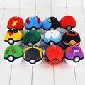 12Pcs/Lot New Pokeball Plush Doll Poke Ball Soft Stuffed Toy 7cm Pikachu Plush Gifts for children Free Shipping