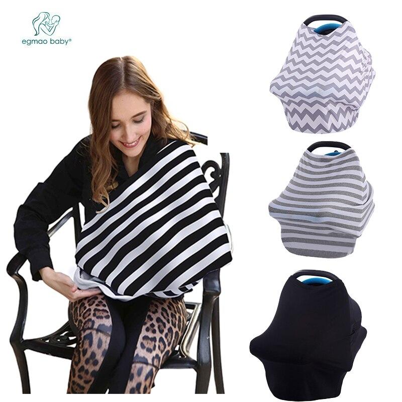 Nouveauté couverture d'allaitement Super douce écharpe d'allaitement couverture de siège de voiture bébé pour 0-3 ans couverture d'allaitement pour bébés