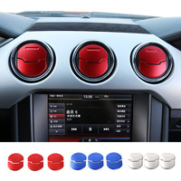 New Products For Ford Mustang 15 Up Aluminium Dashbaord Air Vent Outler Cover Trim 3 Colors