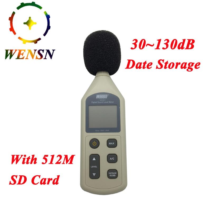Ausdauernd Digital Sound Level Meter 30-130db Lcd Lärm Messgerät Dezibel Überwachung Logger Tester Mit 512 Mt Sd Karte Freies Schiff