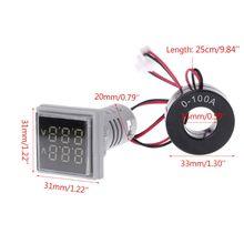 Светодиодный мини-вольтметр с двойным дисплеем, амперметр, измеритель напряжения, ток, тестер переменного тока, 60-500 В, 0-100A