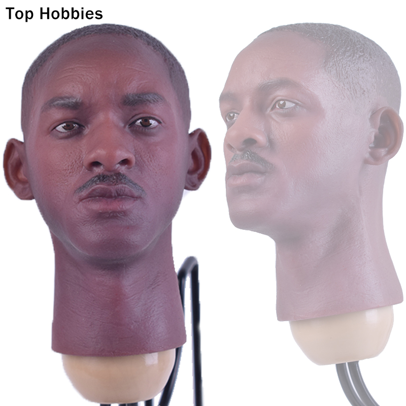 Custom 1/6 Scale Black Man Smith Head Carving Sculpt B013 For 12 Inch Phicen Hot Toys Body Doll Figure Annex 1 6 head sculpt carving model kumik 16 18 hot sideshow toys ttl enterbay custom male man fit 12 ph action figure doll toy body
