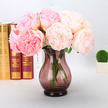 5 Heads/Bunch Peony Fake Flower European Style for Home Photo Studio Wedding Party Decoration Rose Peony Artificial Flowers Gift