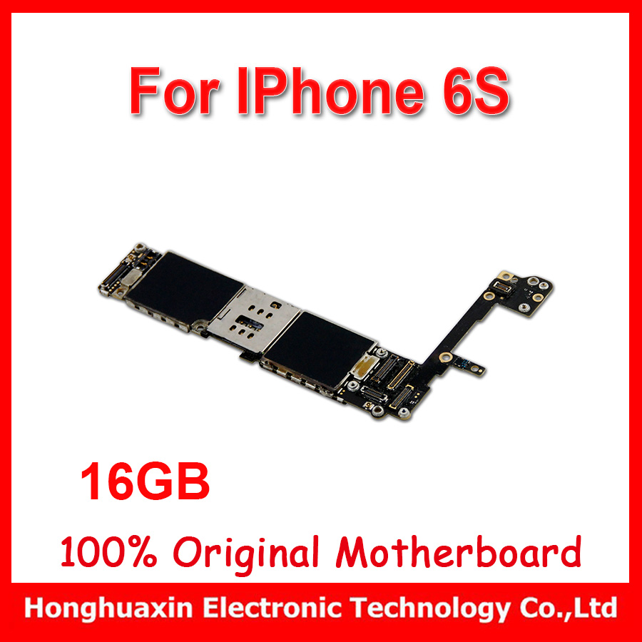 Original Unlocked Motherboard For Iphone 6s 47 Inch 64gb Mainboard 16gb Bekas Fullset Main Plate No Touch Id Install Ios 11
