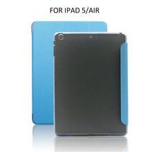Moda 2017 wake up magnética ultra slim case de cuero para apple ipad 5 flip cubierta elegante delgada cubierta para ipad air1 5 colores