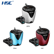 HSC-200B Quick Charger Cup Holder Cigarette Lighter With Voltage Detection 12-24V 3.1A Output USB Car Charger&Circuit Breaker