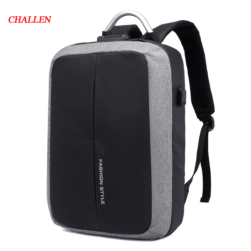 New Anti-thief USB Recharging Men Backpack Travel TSA Lock Design Business Fashion Message Computer Backpack