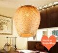 Klassische rustikalen hand stricken bambus Anhänger Lichter Südostasien stil natürliche E27 LED lampe für veranda & parlor & treppen LHDD020 Pendelleuchten    -
