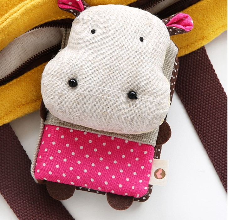 66 cuteness cartoon multifunction bank card canvas storage bag credit card storage bag Portable handbag bus card storage bag