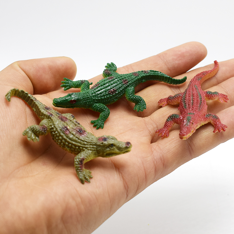 Wholesale 120pcs lot Super Mini Alligator Lifelike Simulation Animals Crocodile Action Figure Toy For Kids