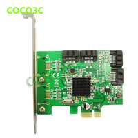 Marvell 88SE9215 Chipset 4 Ports SATA 6G PCI Express Controller Card PCI E To SATA III