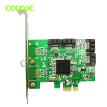 Marvell 88SE9215 Chipset 4 Ports SATA 6G PCI Express Controller Card PCI-e to SATA III 3.0 converter PCI low profile bracket