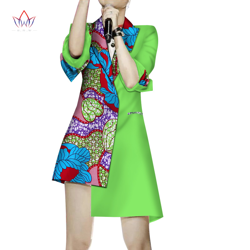 0fa4c26540e single breasted Autumn Jacket Blouse African Wax Print Clothes Brand Dashiki  for Women Plus Size full