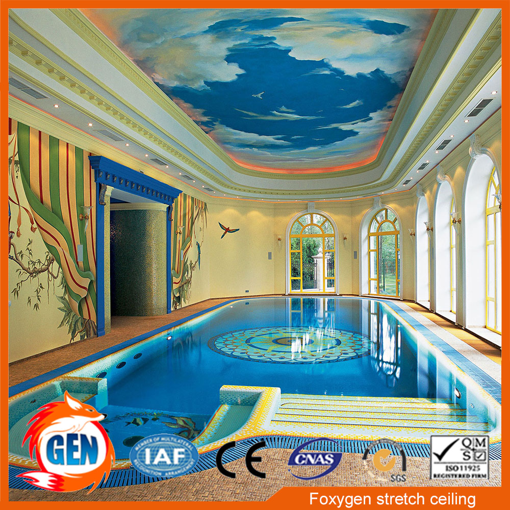 2017 new hot sale pvc stretch ceiling design false ceiling price for wall and ceiling panel lowest price pvc stretch ceiling film