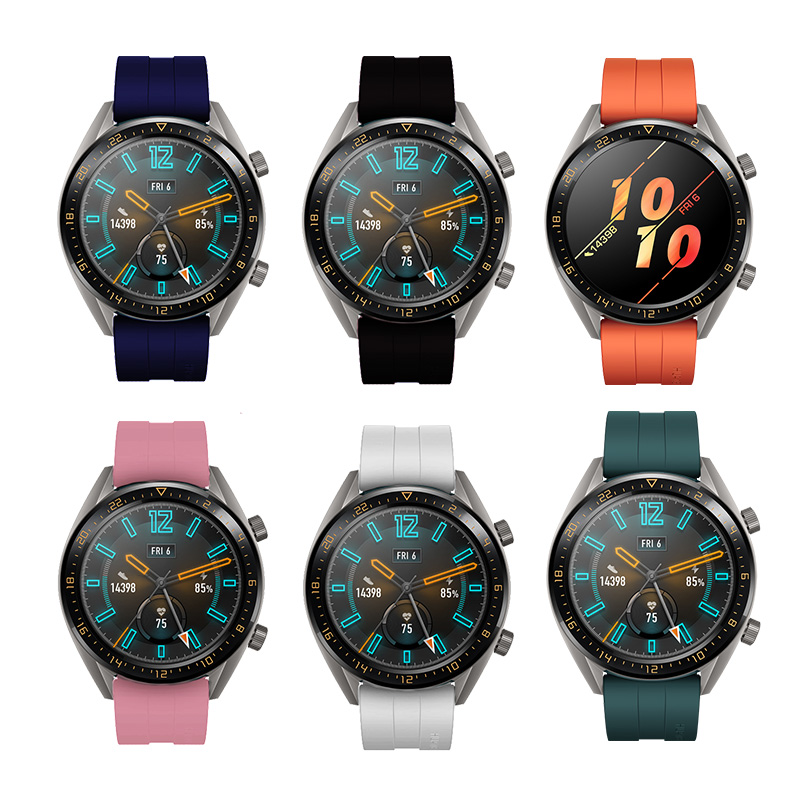 22mm Silicone Bracelet For Huawei Watch GT 2 Replacement Sport Smart Watch Band For Watch GT Honor Magic Wrist Strap Accessories
