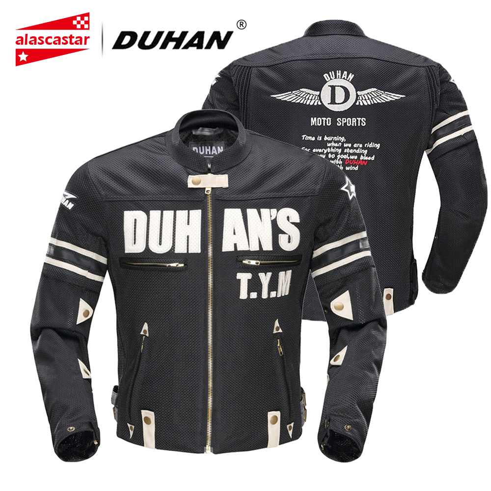 DUHAN Motorcycle Jacket Men Summer Motocross Off-Road Breathable Jacket Racing Moto Jacket Riding Jacket with 5 Protectors Gear duhan oxford cloth motorcycle jacket motocross off road racing jacket men rider clothes with five pcs protector gurds
