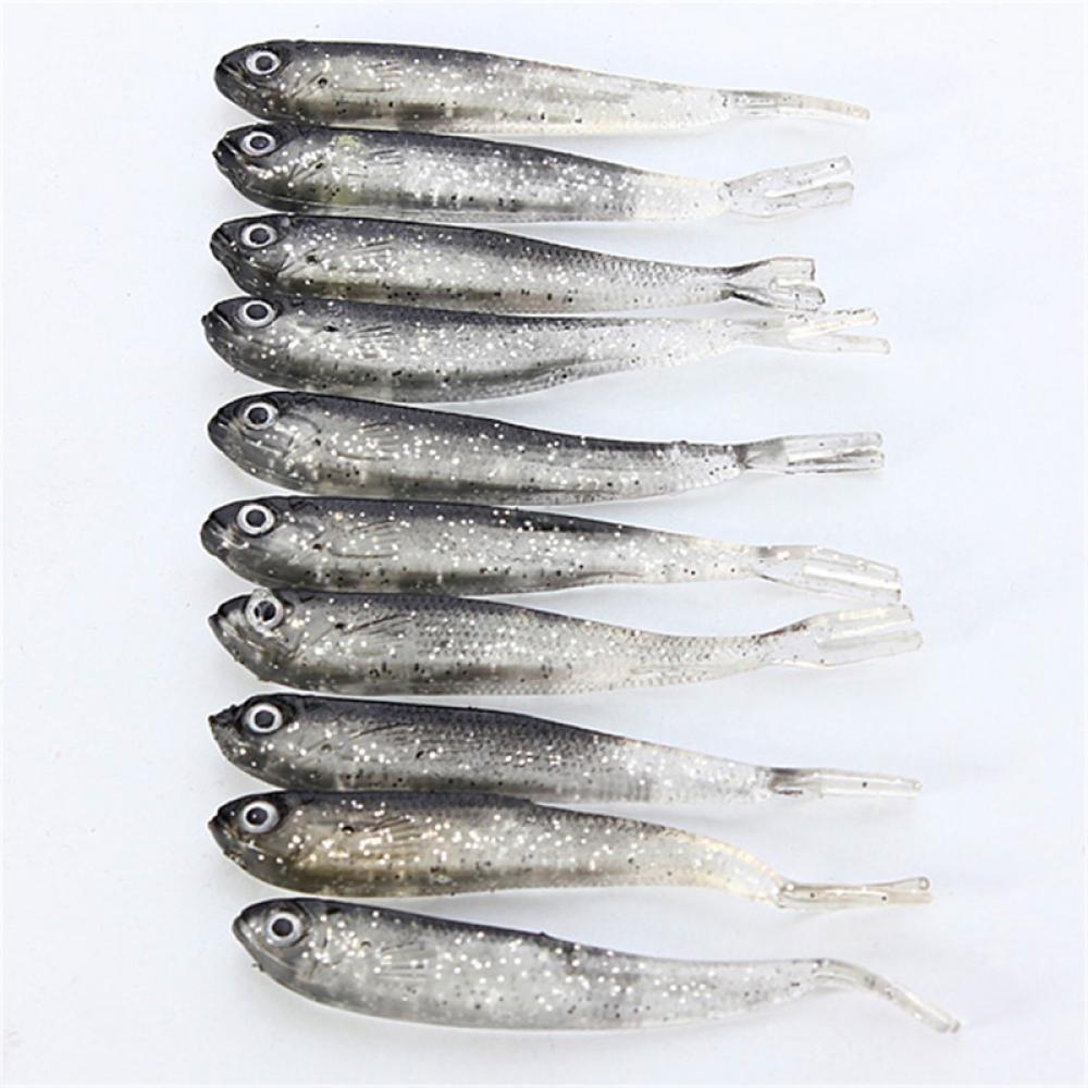 10 Pcs/Set 60g Soft PVC Fishing Lures Soft Lure Wor Jig Head Soft Lure Fly Fishing Bait