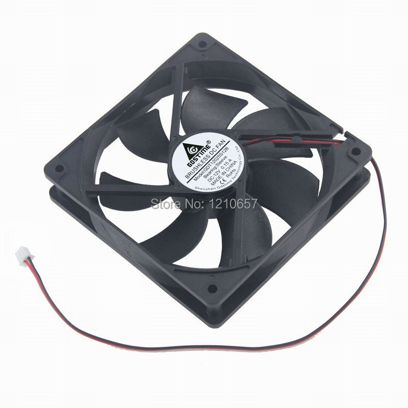 5 PCS LOT Gdstime 12cm 120mm 120x25mm 2Pin 12025S New DC 12V Cooling Exhaust Fan gdstime 10 pcs dc 12v 14025 pc case cooling fan 140mm x 25mm 14cm 2 wire 2pin connector computer 140x140x25mm