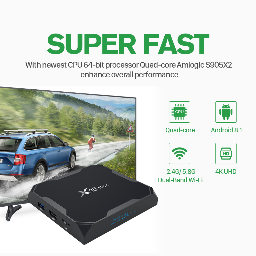 Image 3 - X96 MAX Tv Box 4GB 32GB Android 8.1 S905X2 With QHDTV 1 Year Code Iptv Subscription French Arabic Morocco Belgium Netherlands-in Set-top Boxes from Consumer Electronics