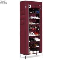 Homdox Shoe Cabinet Shoes Racks Storage Large Capacity Home Furniture Diy Simple Portable Shoe Rack Organizer