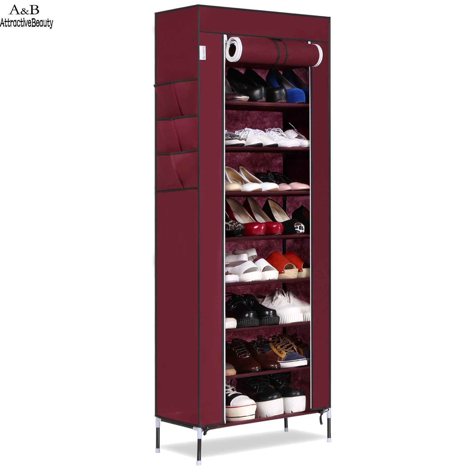 Homdox Shoe Cabinet Shoes Racks Storage Large Capacity Home Furniture Diy Simple Portable Shoe Rack Organizer N20*