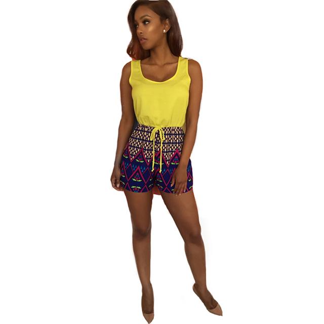 Verão novas Mulheres moda Chiffon Camisas 3D Digital Print Floral blusas e Calças Curtas Soltas Casuais Calções Terno 2 PCS Conjuntos 2016