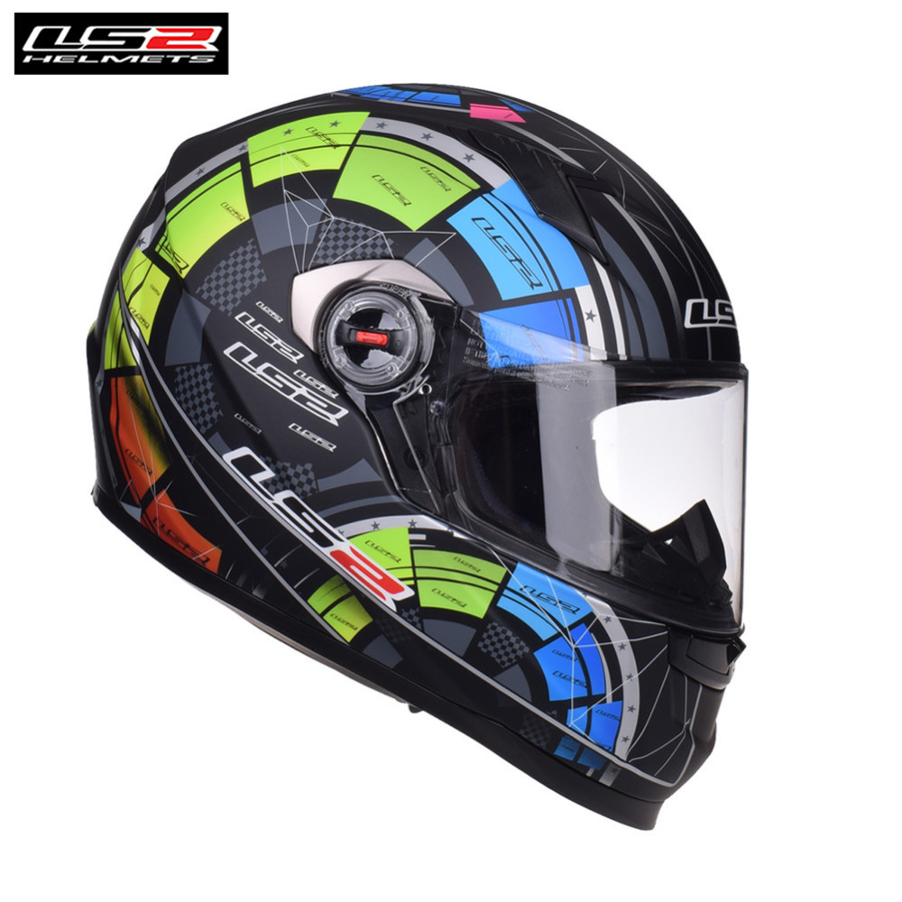 New LS2 FF358 Full Face Motorcycle Helmet Racing Casque Capacete Casco Moto Kask Helmets Helm Crash For Benelli Motorbike ls2 alex barros full face motorcycle helmet racing moto helmets isigqoko capacete casque moto ece approved no pump ff358 helmets